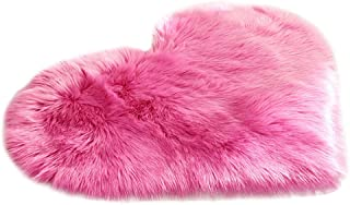 Hot Sale!DEESEE(TM)🌸🌸Wool Imitation Sheepskin Rugs Faux Fur Non Slip Bedroom Shaggy Carpet Mats 40 x 50 cm (G)
