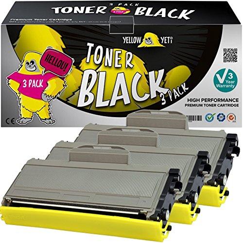 Yellow Yeti TN2120 TN2110 (2600 pagine) 3 Toner compatibili per Brother HL-2140 HL-2150 HL-2170 MFC-7320 MFC-7340 MFC-7440 MFC-7840 DCP-7030 DCP-7040 DCP-7045