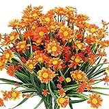 Mazheny Lot de 4 Fleurs artificielles en Forme de Marguerite pour décoration de Maison, de Mariage, de Bureau