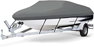 7 oz Solution Dyed Polyester Charcoal Grey, Styled to FIT Boat Cover for BAYLINER 195 Classic RUNABOUT 2004-2005