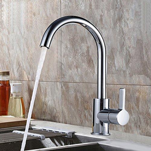 Hlluya Professionele Sink Mixer Tap Keuken Kraan De koperen koud water kranen, keuken schotel wassen zwembad gemengd met verwarming en koelwater klep keuken afwas wastafel mixer