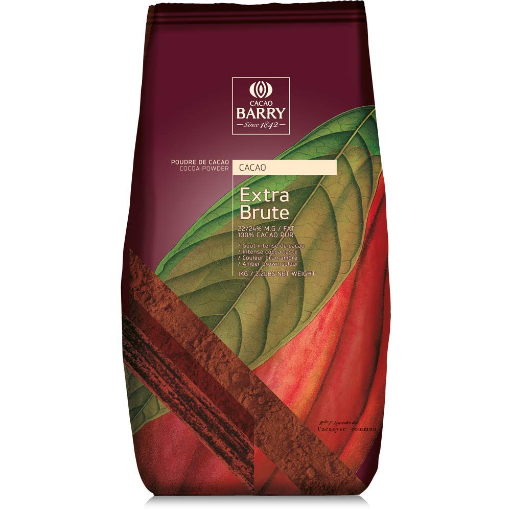 Buy Cacao Barry Cocoa Powder 100% Cocoa Extra Brute, 2.2 lb (Pack of 2)  Online in Indonesia. B01LC0QLY0