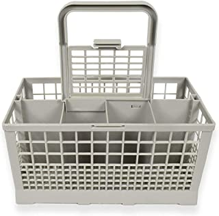qiguch66 Universal Dishwasher Cutlery Basket,fits Plastic Universal Replacement Cutlery Basket Storage Container for Dishwashers Grey