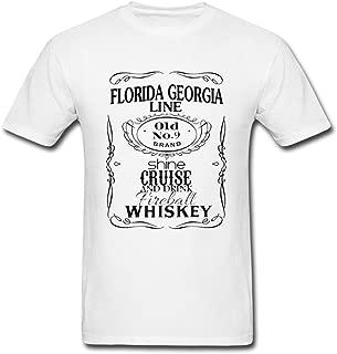 PBP Popular Men's Florida Georgia Line Fashion Logo t Shirt for Men White