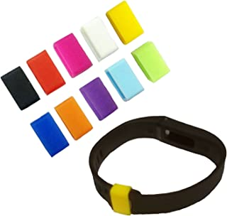 AMOBESTER 10 Pack Fastener Rings Clips Clasps for Fitbit Flex Wristband Security Fastener