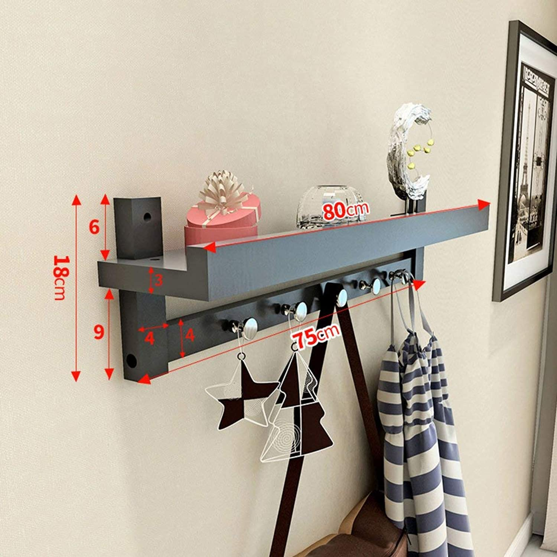 DYR Wall-Mounted Coat Rack, Wall-Mounted European Coat-Hanger Bedroom Living-Room Wall Shelf-B