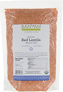 Banyan Botanicals Red Lentils (Masoor Dal) - USDA Organic - Non GMO - Gluten Free Protein - Creamy Soups & Curries