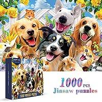 大人用ジグソーパズル 1000ピース カラフル ハッピーペット ストレス解消 ファミリーパズルゲーム フルサイズのポスター付き やりがいのあるパズルギフト