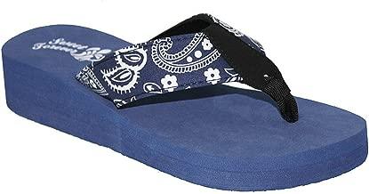 SWEET FOREVER Ladies Bandana Paisley Print Sandal