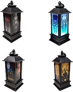 HINK Veilleuse Halloween LED veilleuse éclairée Accessoires décoratifs en Plastique Brillant Nuit 4Pc Maison et Jardin lum...