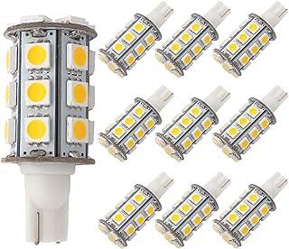 GRV T10 921 194 Wedge 24 – 5050 SMD LED Bombilla lámpara super brillante blanco cálido CA/CC 12 V ~ 24 V Pack de 10