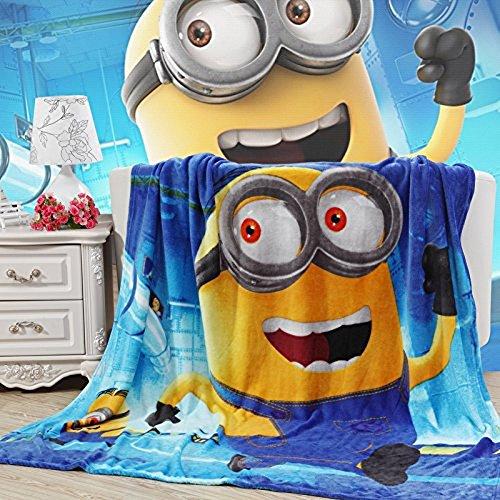 Blaze Children's Cartoon Printing Blanket Coral Fleece Blanket 59 by 79' (Minions)