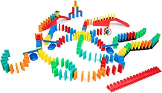Bulk Dominoes 204 pcs Kinetic Dominoes Large PRO-Scale Stacking Building Toppling Chain Reaction Dominoes Set for Kids and...