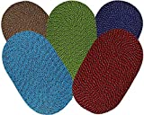 Soulful Creations Cotton Mat for Home and Offices Set of 5 Pcs Size - 33 x 53 cm (Multicolour) (Multi - 1(Set of 5))