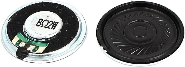 Aexit Pair 2 Variable Resistors Watt 8 Ohm 36m_m Diameter Round External Magnet Potentiometers Speaker Black