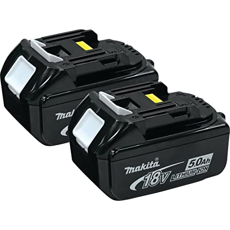 Makita BL1850 18V LXT 5.0Ah Li-Ion Battery Twin Pack With 6 Pack Battery Holders