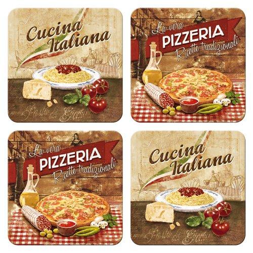 Nostalgic-Art 46024 Home und Country Italian, Untersetzer-Set, 4-teilig