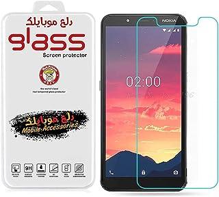 لاصقة حماية للشاشة نوكيا سي 2 من الزجاج المقسى - شفاف من دلـع موبايلك