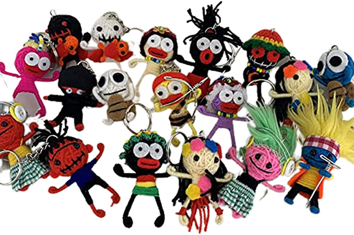 Factory outlet Strong689 50x Halloween Keyring Keychain Lucky Dol Voodoo 5 ☆ popular String