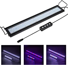 Hygger Full Spectrum Aquarium Light with Aluminum Alloy Shell Extendable Brackets, White..