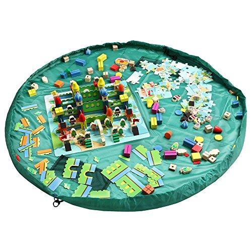 おもちゃ収納バッグ HOMECUBE 直径150cm 子どもプレイマット ブロック片付け ドローストリングバッグ おも...