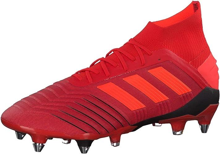 Adidas Prougeator 19.1 SG, Chaussures de Football Homme, MultiCouleure (Rojact Rojsol Negbás 000), 44 2 3 EU