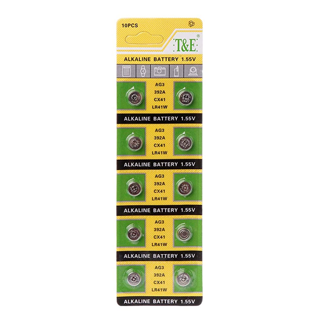Lamp Chain Finger Light Watch Toys Remote 10PCS Cell Coin Alkaline Battery AG3 1.55V Button Batteries SR41 192 L736 384 SR41SW CX41 LR41 392