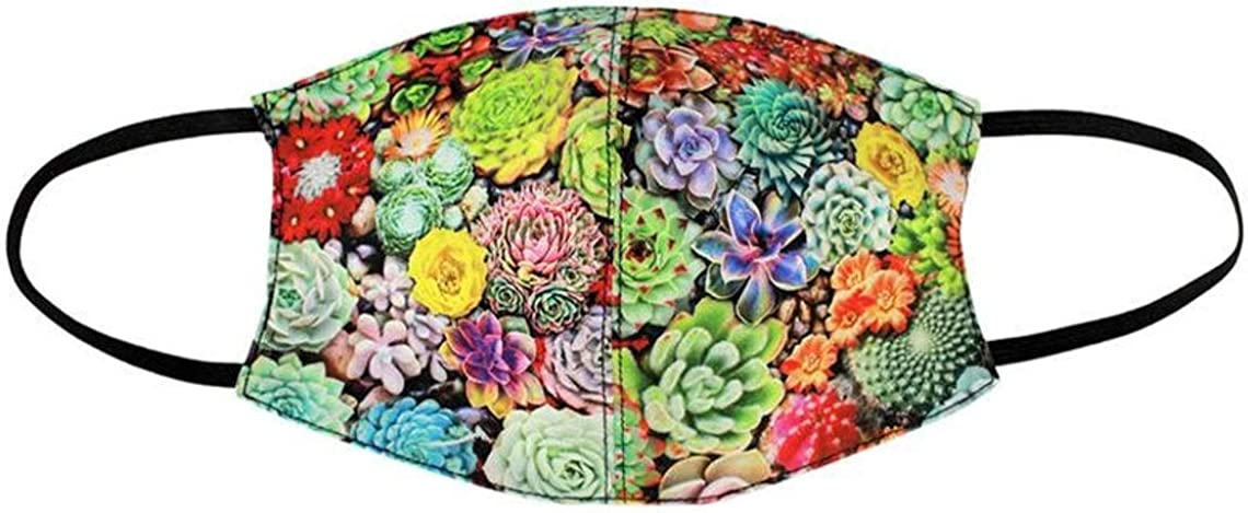 Cacti Large Face Mask Sales of Challenge the lowest price of Japan ☆ SALE items from new works With Pocket Reusable Filter Washable Cotto