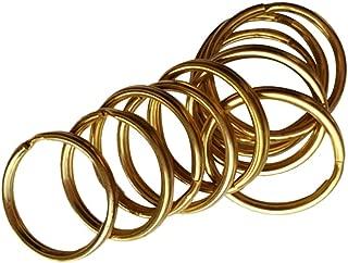 Baoblaze 20x Brass Keyring Split Key Rings 15mm/12mm Hoop Loop Collectible DIY Crafts