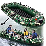10feet Inflatable Kayak 4 Person With 1×Inflatable Pump+2 X Paddle,1×Boat Rope,Inflatable Dinghy Boat Rafting Water Sports Explorer Canoe,PVC Inflatable Rafting Fishing Dinghy Tender Pontoon Boat