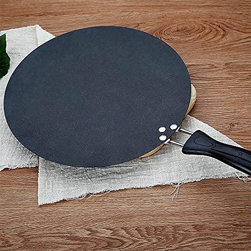 PPuujia Hierro Plancha redonda antiadherente Crepe Pan Para Panqueque Huevo Tortilla Freír Gas Inducción Cocina Utensilios de Cocina Herramientas de Cocina