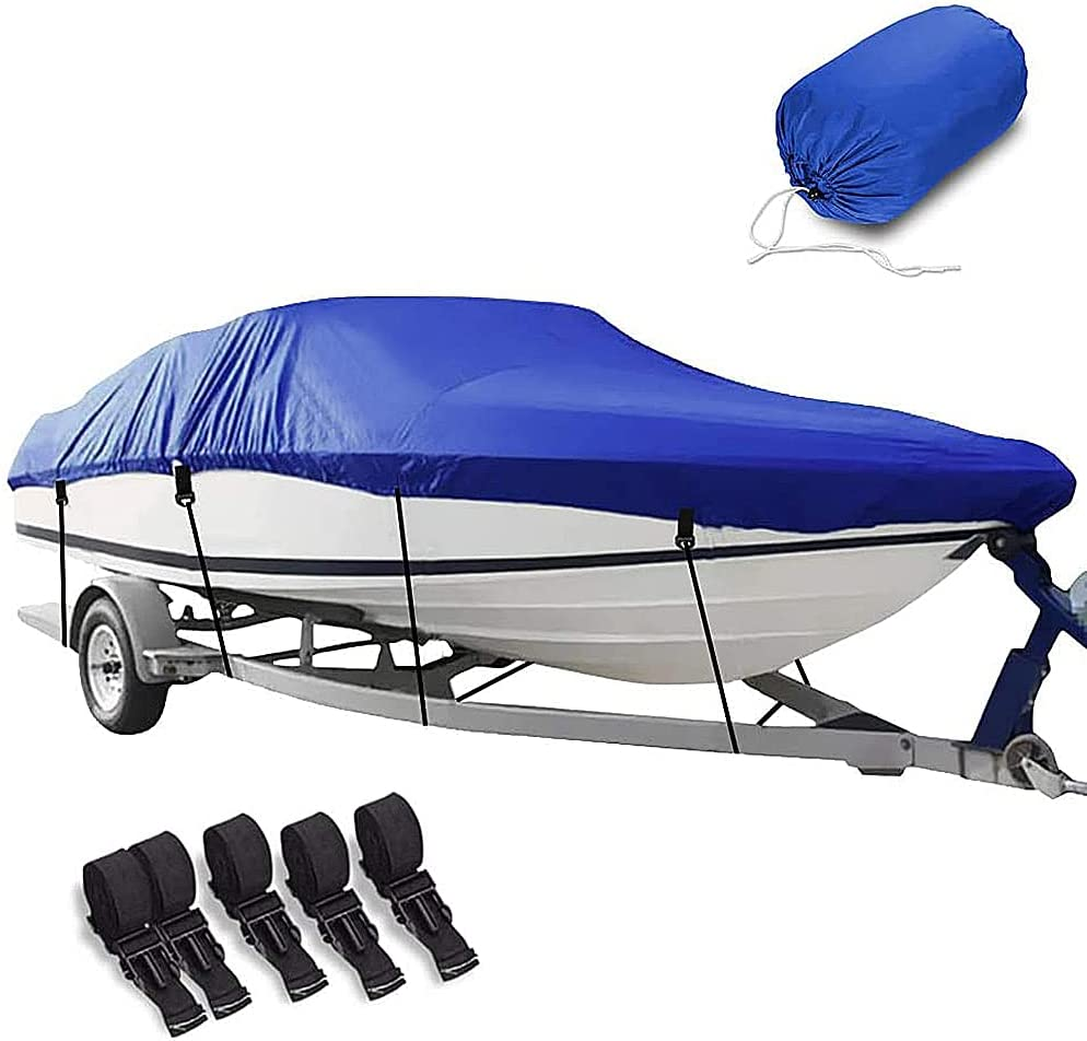 Boat Cover 年間定番 格安 価格でご提供いたします HOMEYA Waterproof 420D Trailerable Bass Covers