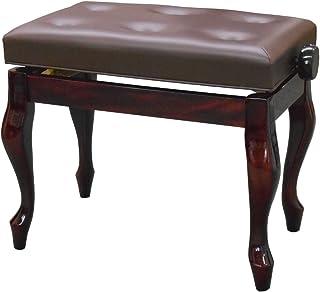 ピアノ椅子/イス 高低自在 KPS-2 M-POC (猫脚, 赤茶/マホガニー艶出し)