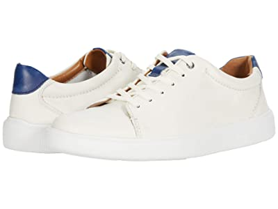 Clarks Cambro Low (White Leather) Men