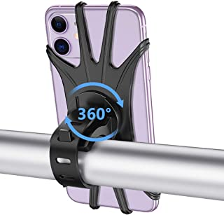 VUP Bike Phone Mount, Silicone Phone Stand for Bicycle, 360° Adjustable, Face & Touch ID, Universal Motorcycle Phone Mount for iPhone 11/Pro/XS/MAX/XR/X/7/8/Plus, Galaxy, Google Pixel, Nubia, LG
