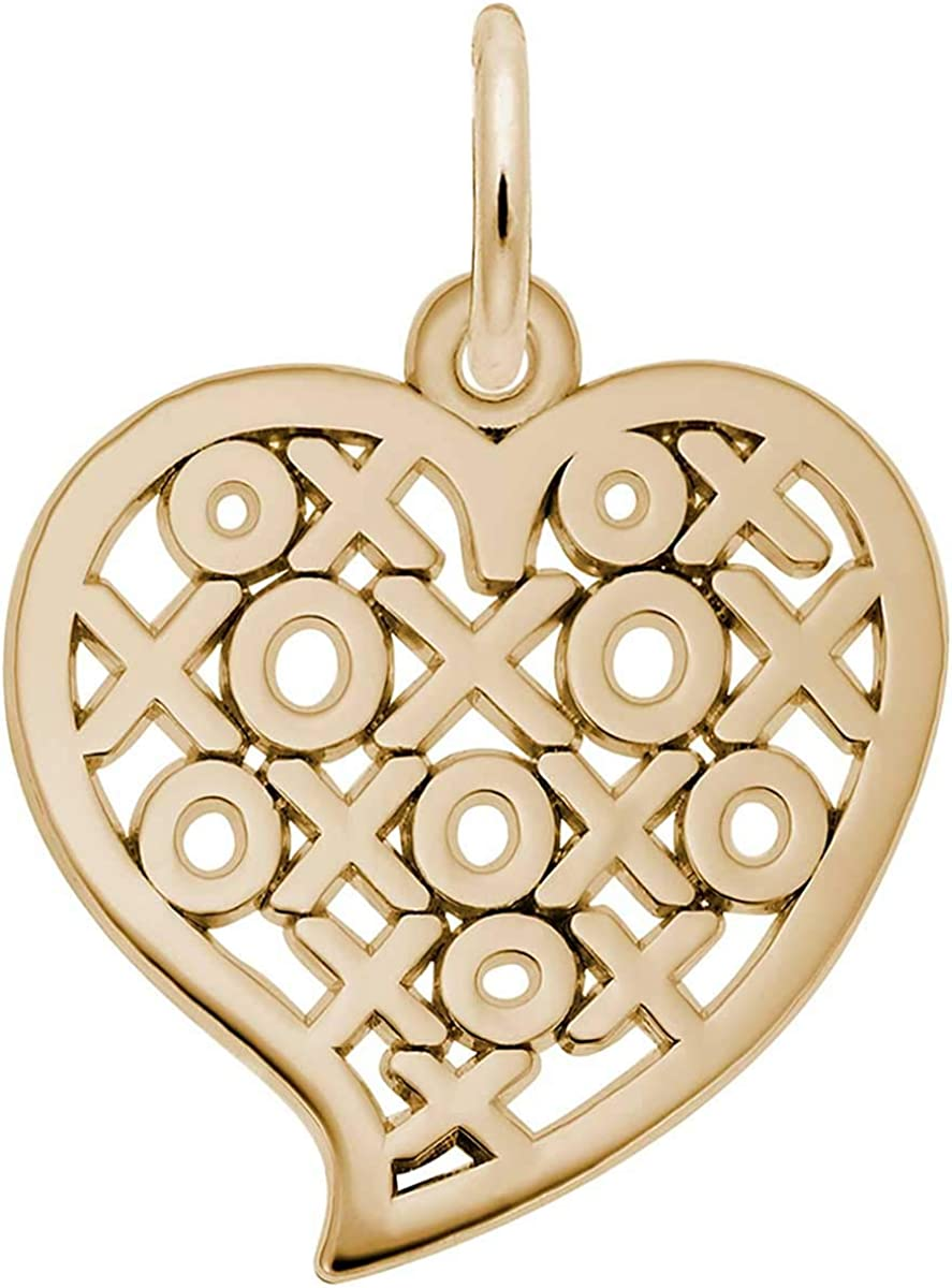 Rembrandt Charms XOXO Heart Yellow Spasm price Charm Sales for sale Gold 10K