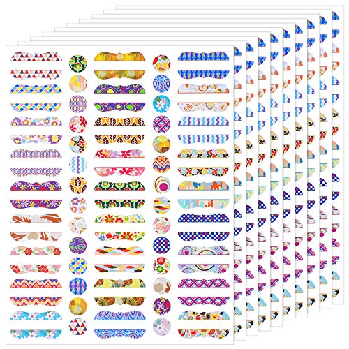 270 Pieces Essential Oil Bottle Labels and 280 Pieces Round Cap Stickers Waterproof Colorful Essential Oil Bottle Stickers for Essential Oil Bottles Markers
