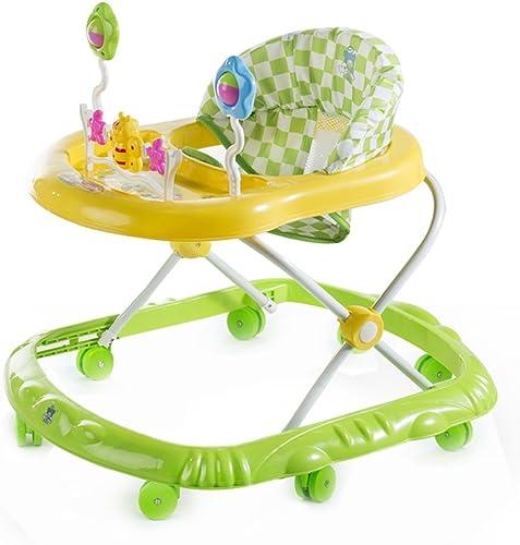 HAIZHEN Kinderwagen Baby Grün Rosa Gehhilfe 6-18 Monate Baby Anti-überschlag Multifunktion Zusammenklappbar Mit Musik Kind Wagen 66  56  57 cm Für Neugeborene (Farbe   Grün)