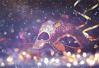 EdCott 9x6ft Maskerade Party Hintergrund Deluxe Bokeh Karneval Lacy Maske Foto Hintergrund Prom Halloween Kostüm Poster Dekorationen Photo Booth Prop