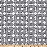 StofQuilt Stoff Dänemark Pretty Panda Punkte Grau