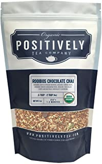 Positively Tea Company, Organic Rooibos Chocolate Chai, Rooibos Tea, Loose Leaf, 16 oz. Bag