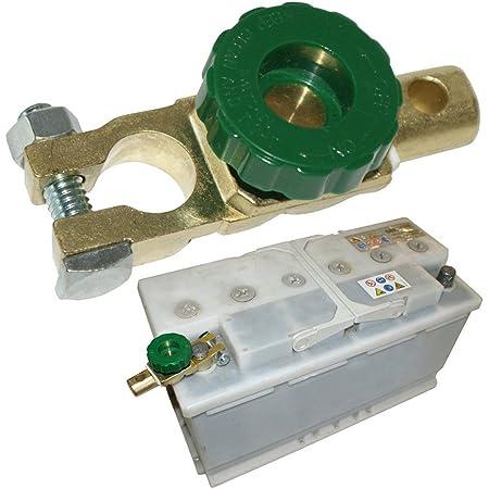 MXECO 17mm Auto Motorrad Batterieklemme Link Schnelltrennschalter Drehtrennschalter Isolator Auto LKW Auto Fahrzeugteile Gelb Und Gr/ün