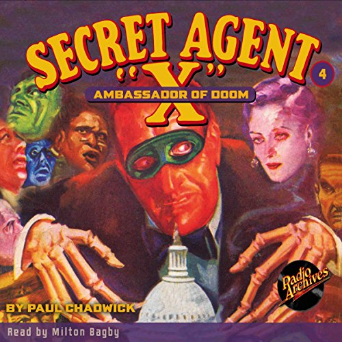 Secret Agent X #4 May, 1934 audiobook cover art