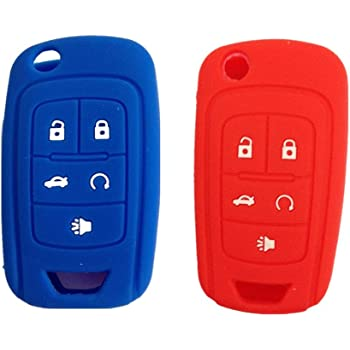 qualitykeylessplus CAMO Rubber Case Silicone Protective Cover for GM Flip Remotes with Free KEYTAG