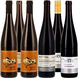 Weingut Mees ROTWEIN TROCKEN PROBIERPAKET Prämiert Wein Deutschland Nahe Paket 6 x 750 ml