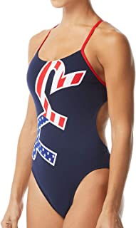 TYR Women's Big Logo USA Cutoutfit