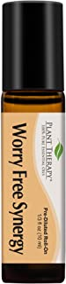 Plant Therapy Essential Oils Worry Free Synergy - Stress & Calming Relief Blend 100% Pure, Pre-Diluted Roll-On, Natural Aromatherapy, Therapeutic Grade 10 mL (⅓ oz)