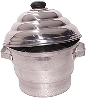 Kuber Industries Exclusive Aluminium Idli Maker Cooker with 4 idli Plates and 3 Plates Steamers , 2 Dhokla and 1 Patra Plate , 9.5 Diameter (Idco01), Silver