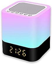 Nachtlampje, bluetooth-luidspreker, touch-lamp, kleurverandering, RGB-nachtlampje, dimbaar, digitale wekker, cadeau voor j...