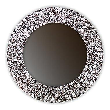 DecorShore 24  Iced Coffee, Handmade Wall Mirror, Decorative Glass Mosaic by